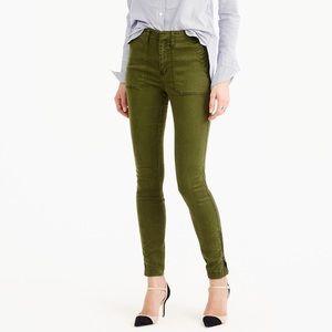J. Crew Skinny stretch cargo pant with zippers